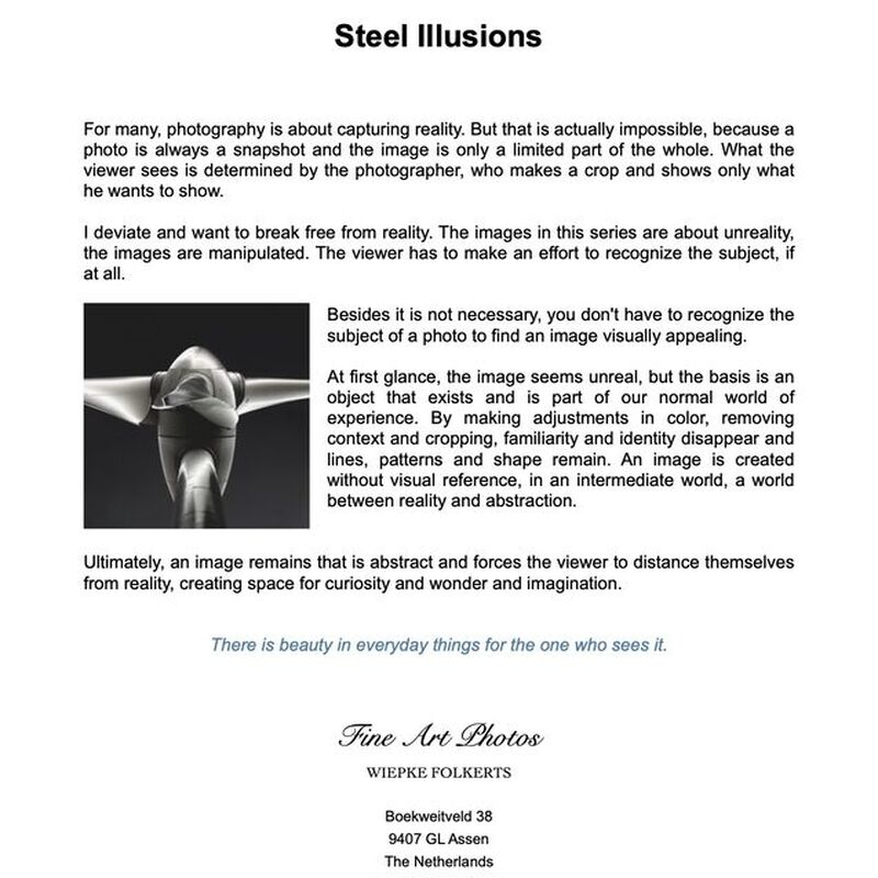 <strong>Flyer Steel illusions Engels</strong>