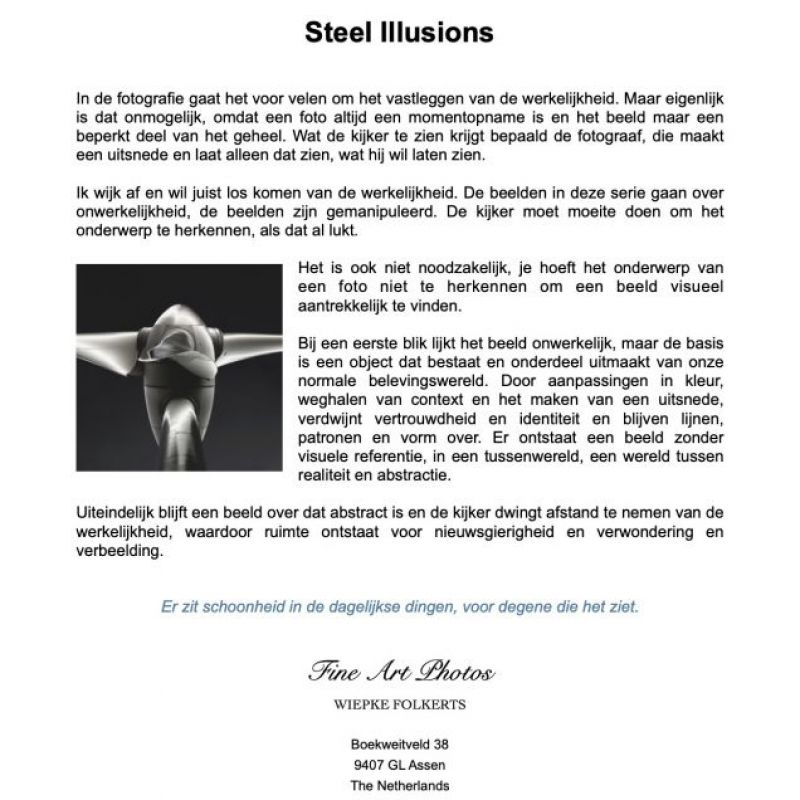 <strong>Flyer Steel illusions Nederlands</strong>